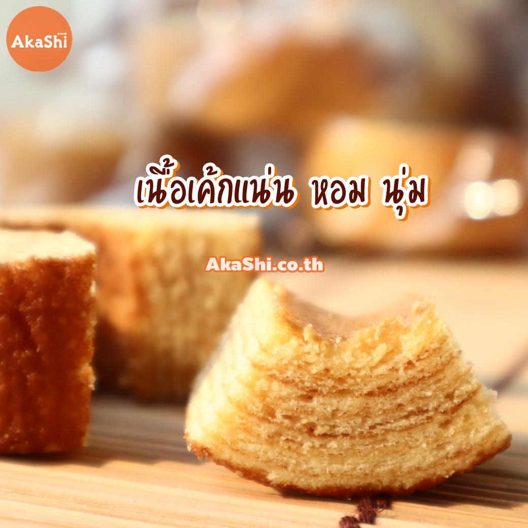 Marukin Cut Baumkuchen - เค้กบามคูเฮน เค้กบัม เค้กขอนไม้ รสนมฮอกไกโด แบบตัดครึ่ง 10 ชิ้น