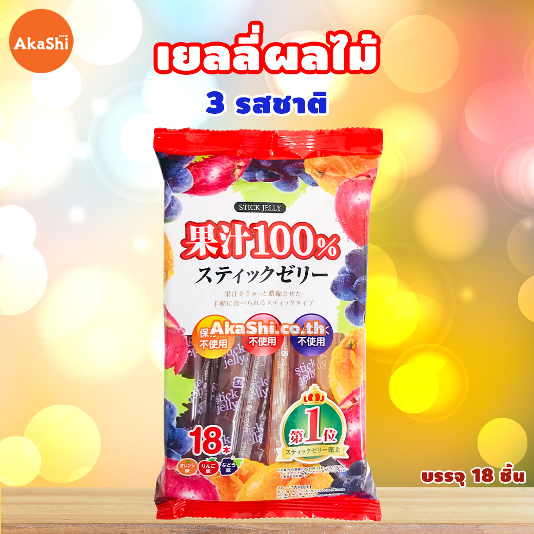 Pokka Sapporo Ribbon Stick Jelly - เยลลี่ผลไม้ 3 รสชาติ
