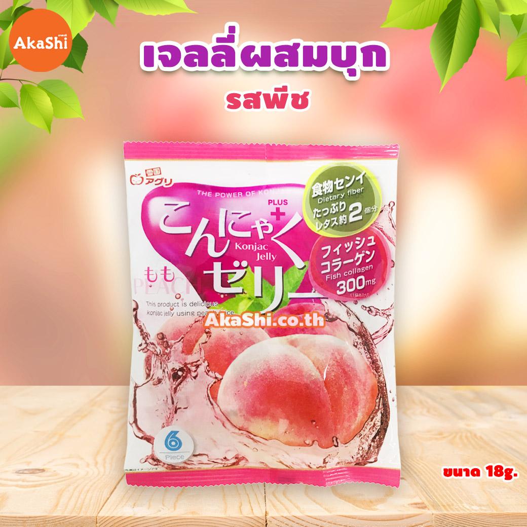 Yukiguni Aguni Konjac Jelly Peach - เจลลี่ผสมบุกญี่ปุ่น รสพีช