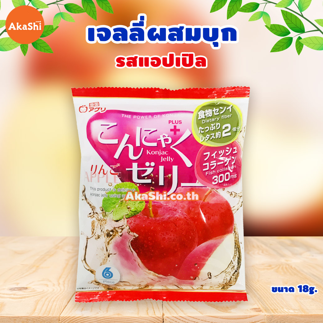 Yukiguni Aguni Konjac Jelly Apple - เจลลี่ผสมบุกญี่ปุ่น รสแอปเปิ้ล