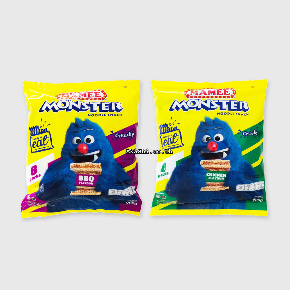 Mamee Monster Noodle Snack - ขนมบะหมี่กึ่งสำเร็จรูปทานเล่น