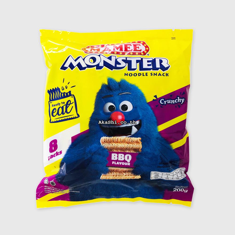 Mamee Monster Noodle BBQ - ขนมบะหมี่กึ่งสำเร็จรูปทานเล่น รสบาร์บีคิว