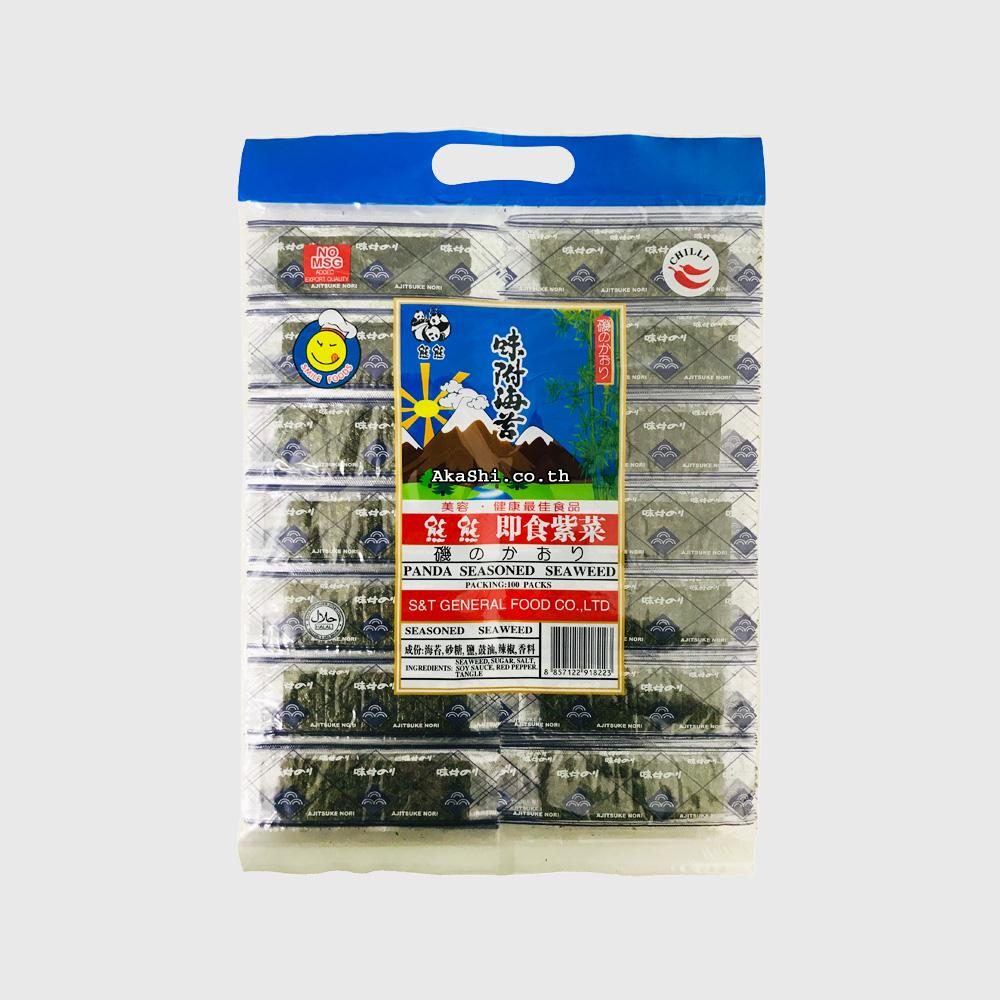 Panda Brand Seaweed - สาหร่ายทะเลแห้งปรุงรส ตราหมีแพนด้า รสเผ็ด