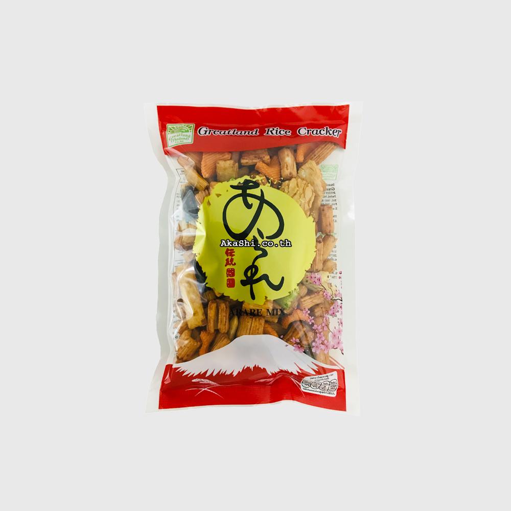 Greatland Rice Cracker Arare Mix - ขนมข้าวอบกรอบปรุงรส