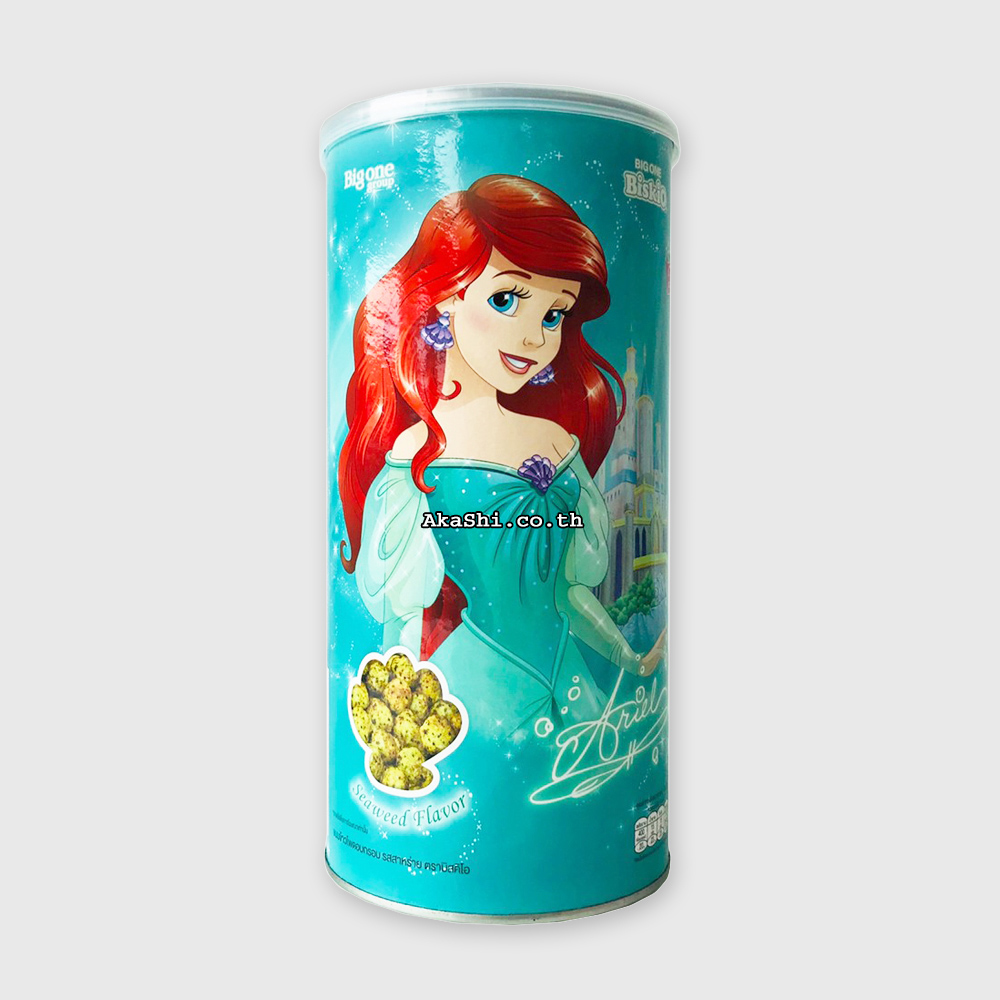 Biskio Princess Seaweed - ขนมข้าวโพดอบกรอบ ดิสนีย์ พริ้นเซส รสสาหร่าย