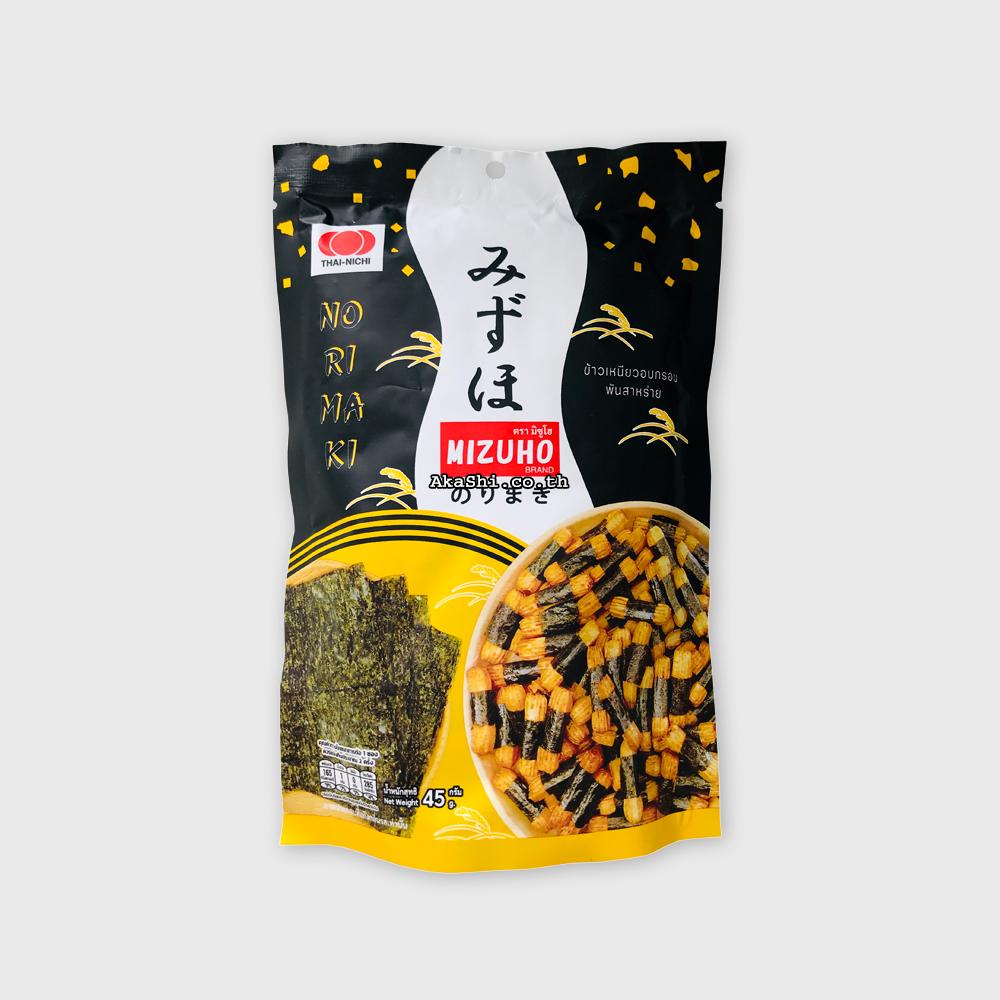 Mizuho Japanese Rice Cracker Norimaki - ข้าวเหนียวอบกรอบพันสาหร่าย