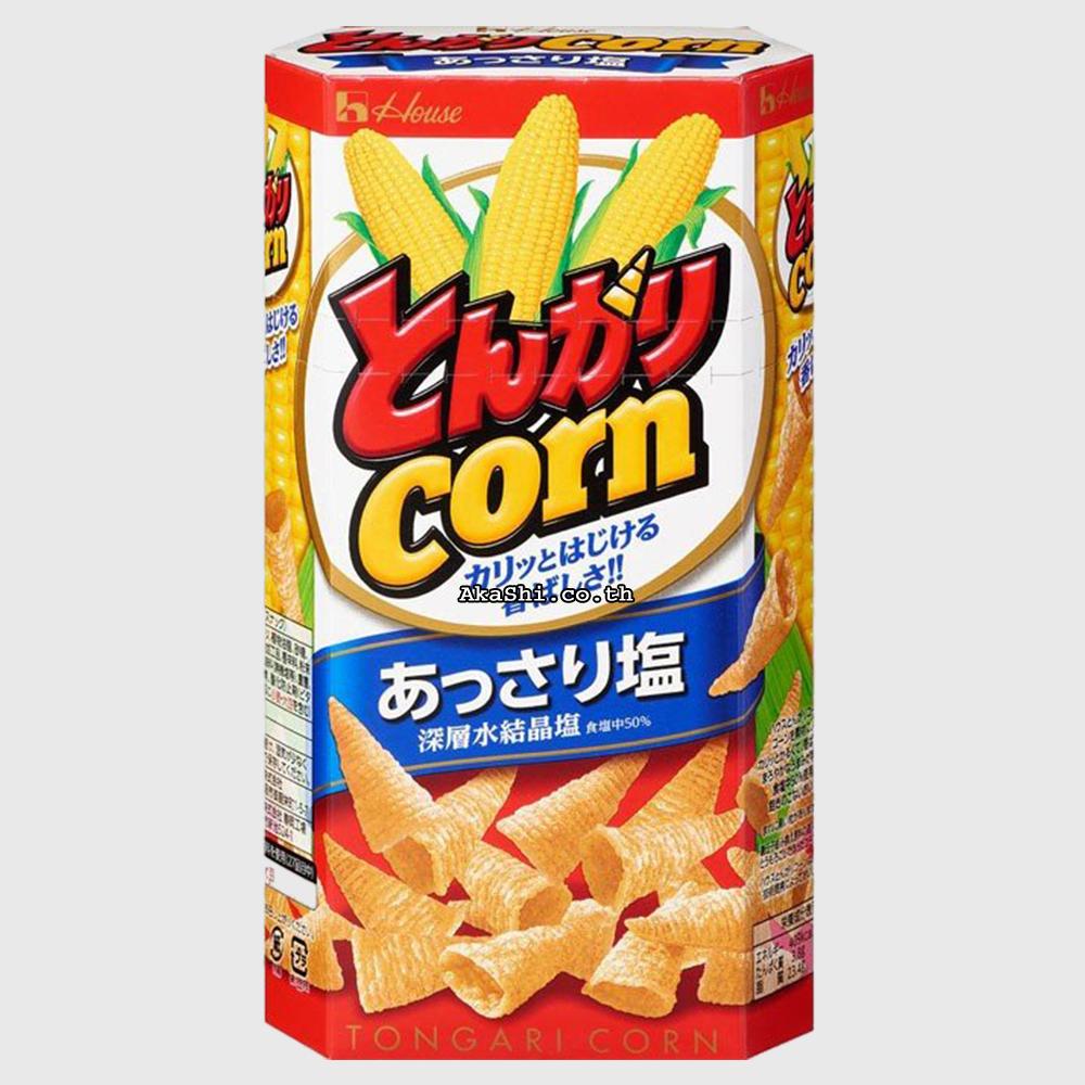 Tongari Corn Light salt - ข้าวโพดอบกรอบทรงกรวย รสเกลือ